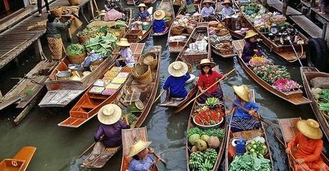 Drijvende markten Bangkok